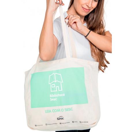 Sacola Ecobag com Lareral produzida para o bradesco