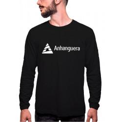 Camiseta Manga Longa com Gola Careca